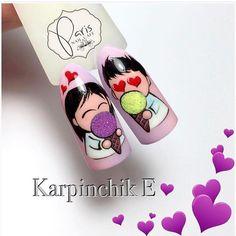 Valentine Nail Art, Valentines, Cute Nails, My Nails, Disney Nail Designs, Nail Art Wheel, Butterfly Nail Art, Nails 2018, Disney Nails