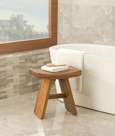 floor sample classic asia teak shower bench - Teak Shower Bench