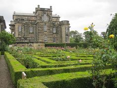 Formal garden at Seaton Delaval Hall, Newcastle upon Tyne, England. Photo by… England Ireland, England And Scotland, London England, England Uk, Beautiful Buildings, Beautiful Places, Lets Run Away Together, English Manor Houses, North East England