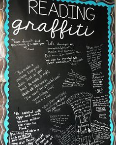 Our reading graffiti wall has so many great quotes that my students found in books they have read throughout the year, and another quote was just added today from City of Ember!!