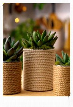 How to decorate with rope and to customize your embélir ntérieur. Discover ideas 15 DIY decor with rope in this article. Rope Crafts, Diy Crafts, Pot Mason Diy, Diy Upcycling, Idee Diy, Diy Décoration, Easy Diy, Blog Deco, Sisal