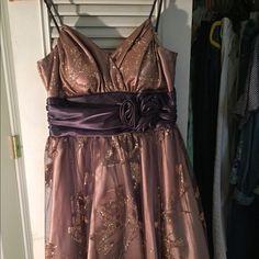 Formal dress Bronze, glitter, short formal dress Josh and Jazz Dresses