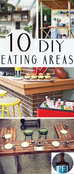 10 DIY Outdoor Eating Areas - Painted Furniture Ideas - Don't you love eating outside on a warm summer night? Here are 10 DIY build-around grill projects -