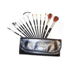 Bellus 13 Piece Makeup Brush Set and Case. #beauty, #tool, #makeup, #brushes