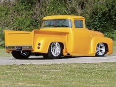 Read the Custom Classic Trucks feature article on a 1956 Ford 1956 Ford Truck, Old Ford Trucks, New Trucks, F100 Truck, Dually Trucks, Custom Truck Parts, Custom Pickup Trucks, Ford Classic Cars, Classic Trucks