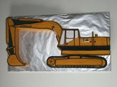 Excavator Made for an excavator driver for his 50th birthday. Iced with buttercream and fondant accents.