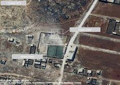 This satellite image released by the UN shows a damaged school or athletic facility in the Owaija district of Aleppo, Syria, October 1, 2016.
