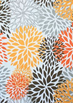 Maybe this fabrick from Tonic Living for my curtains in the dining room and kitchen. (Birds Eye, Cayenne)