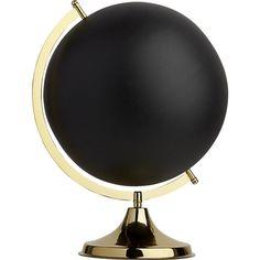 brass and black globe | CB2