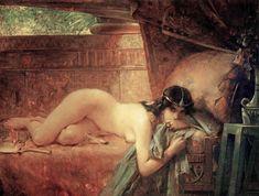 """Leon-Francois Comerre (1850-1916), """"Le Manteau Legendaire"""""""