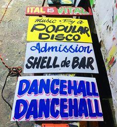 We up to somethin'...  #busparksignshop #kingston #sign #art #dancehallsigns #handpaintedsign #signpainting #design #typography #lettering #dancehall #reggae #soundsystem #jamaica