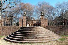 Sunken Garden Steps, William and Mary University, Williamsburg,  Virginia (VA) by bobindrums, via Flickr