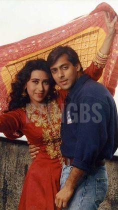 Hum Aapke Hain Koun, Bollywood Couples, Karisma Kapoor, Vintage Bollywood, Salman Khan, Desi, Big Big, Photoshoot, Actresses