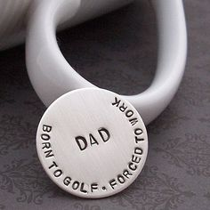 Personalized Golf Ball Marker - Hand Stamped Engraved Sterling Silver Gift for Dad, Grandpa, Graduate, Groom or Groomsmen