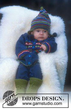 Jacke, Mütze und Socken mit Musterborten in