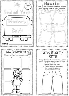 End of Year Memory Book and Activities Unit - 65 End Of Year Activities, Classroom Activities, Classroom Ideas, School Pranks, First Grade, Grade 2, Preschool Graduation, End Of School Year, School Memories