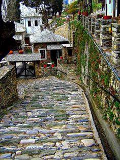 Street in Makrinitsa, Mount Pelion (Pilio Magnesia),Thessaly, Central Greece Places Around The World, The Places Youll Go, Places To See, Around The Worlds, Beautiful World, Beautiful Places, Myconos, Greece Travel, Albania