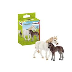 Schleich Pony Mare and Foal Piece) in Figures. Breeds Of Cows, Welsh Pony, Barrel Racing Horses, Horse Girl, Animals Of The World, Age 3, Toys For Girls, Pet Toys, North America