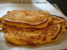 This varies slightly to the other coconut flour pancake recipe under the dessert section and is more like a thick breakfast pancake.