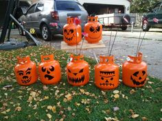 cute idea - Forever Pumpkin, Propane Tank Plasma-cut Pumpkin