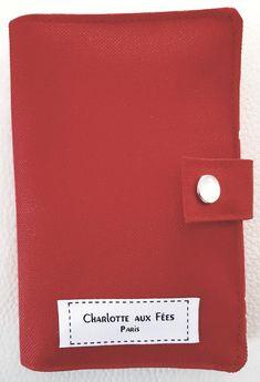 Portefeuille Compère en toile rouge cousu par Gaëlle - Patron Sacôtin