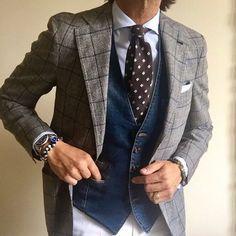 Francesco Celentano - Made to measure blazer @gabo_napoli for @sergio_greco_ | denim vest @eleventy_milano | tie and trousers @luigiborrellinapoli