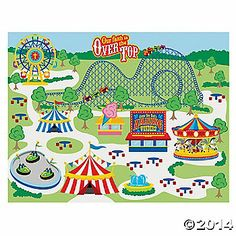 """Make An """"Over the Top"""" Carnival Sticker Scenes"""
