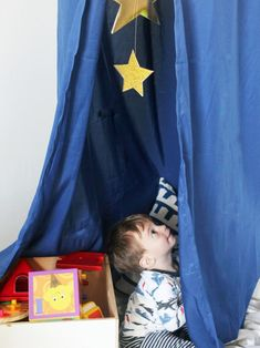 DIY Kid's Play Canopy: Materials | HGTV >> http://www.hgtv.com/design/rooms/kid-rooms/make-a-dreamy-diy-play-canopy-for-a-kids-room?soc=pinterest