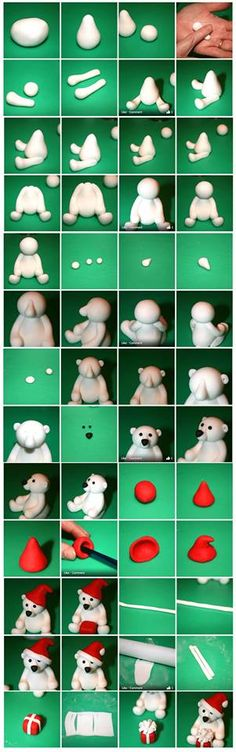 Polar bear fondant tutorial