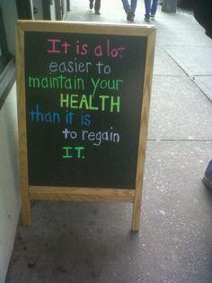 Healthspo. Be healthy, stay healthy!