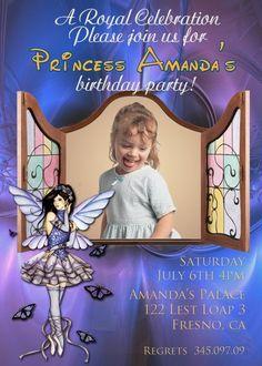 Butterfly Fairy Invitations birthday invitations Printable Invitations diy Invitations Children custom Invitations