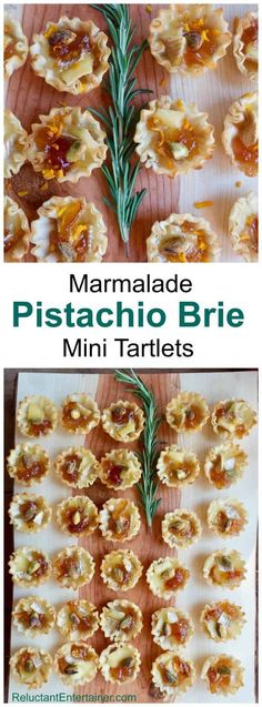 Marmalade Pistachio Brie Mini Tartlets in partnership with AthensFoods Easy Appetizer Recipes, Yummy Appetizers, Snack Recipes, Cooking Recipes, Recipes Dinner, Mini Tartlets, Football Food, Appetisers, Clean Eating Snacks