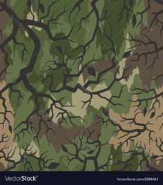 Thorn camouflage pattern seamless Vector Image by zillion