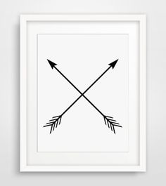 Arrow Print Black and White Two Crossed by MelindaWoodDesigns, $5.00