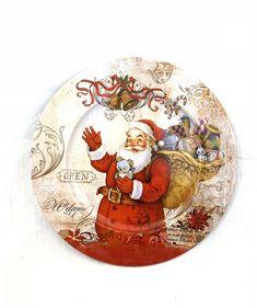 Vintage Look METAL Primitive Red /& Rust Christmas MAILBOX Holiday Seasonal Holly