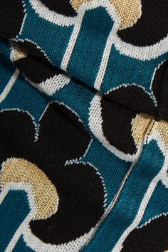 Marni - Cotton-blend Jacquard-knit Leggings - Teal - IT40