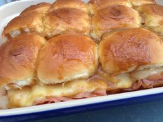 Hot and Melty Party Sandwiches but Swiss instead of Gouda. Yummy