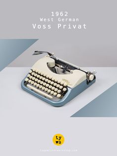 1962 Voss Privat Typewriter. Metallic marble by TypewriterWshop