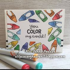 Lawn Fawn You Color My World Card