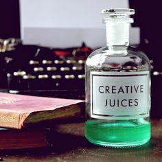 vinegar and brown paper creative juices bottle