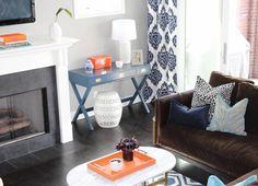 Modern Living Room- Designed by @blackdovelifestyle   Jonathan Adler meets SouthBeach! home, decor, modern, pop of color