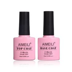 A base and top coat set for your gel manicure that is reasonably priced.   22 Of The Best Nail Products You Can Get On Amazon