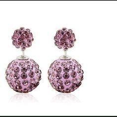 Lilac earrings Beautiful double sided earrings lilac Jewelry Earrings