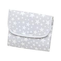 Statt Wegwerfwickelunterlagen bieten sich hübsche Unterlagen wie diese für die Wickeltasche an: Cambrass 35423 Wickelunteralge Kollektion, Star, 64 x 42 cm, grau