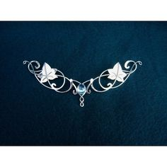Elven Necklace Bridal Neckpiece Sterling Wedding Accessories Wedding... (£115) via Polyvore featuring jewelry, necklaces, accessories, crowns, head, medieval, i love jewelry, crown jewelry, bride necklace and leaf necklace