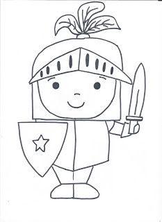 Resultado de imagen de dibujo caballero medieval infantil