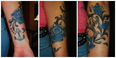 my anchor and the blue roses <3