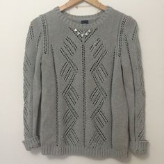 Cotton Pointelle Sweater Beautiful fit to this sweater. 100% cotton full length sleeves. Cozy and warm  GAP Sweaters Crew & Scoop Necks