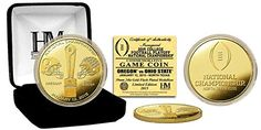 2015 College Football National Championship Game Oregon Ducks Vs Ohio State Buckeyes Gold Commemorative Coin LIMITED EDITION