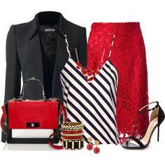 """Lace Skirt"" by allisha-fa on Polyvore"